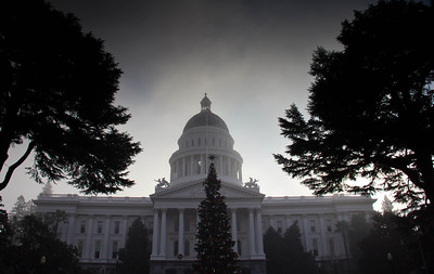 Waiting for the fog to lift Ca. State Capitol.