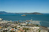 San Francisco - view from Coit Tower with Alcatraz in the distance and Fisherman's Wharf in the foreground