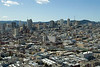 San Francisco - view of the city toward Twin Peaks from Coit Tower