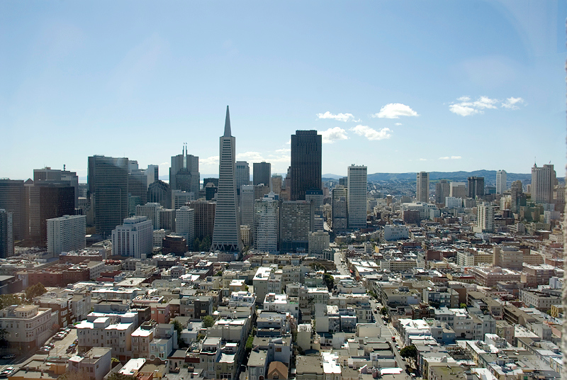 San Francisco - view of the city from the Coit Tower