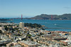 San Francisco - view from Coit Tower of the Golden Gate Bridge