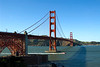 San Francisco - Golden Gate Bridge as seen from the Presidio, with Fort Point located below the bridge