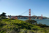 San Francisco - The Golden Gate Bridge as seen from the Presidio