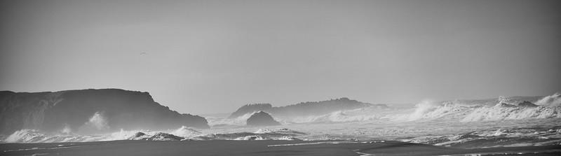 The raging Pacific Ocean along Hwy 1