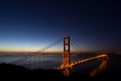 Sunrise with the Golden gate