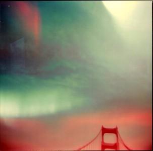 Golden Gate Bridge Polaroid, expired film