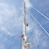 One of the sailboat masts at the Savannah docks