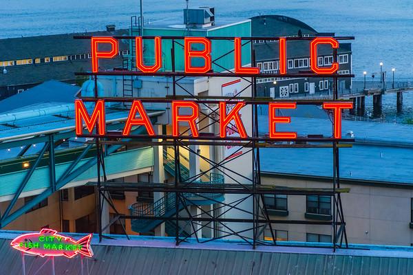 Public Market at Dusk