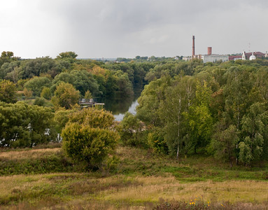 View from the Serpoukov Vysotsky Monastery to the Serpoukov and the river Nara