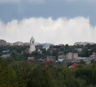 View from the Serpoukov Vysotsky Monastery to the Serpoukov