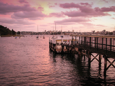 Neutral Bay wharf at dusk