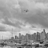 Vancouver Downtown from Stanley Park B&W