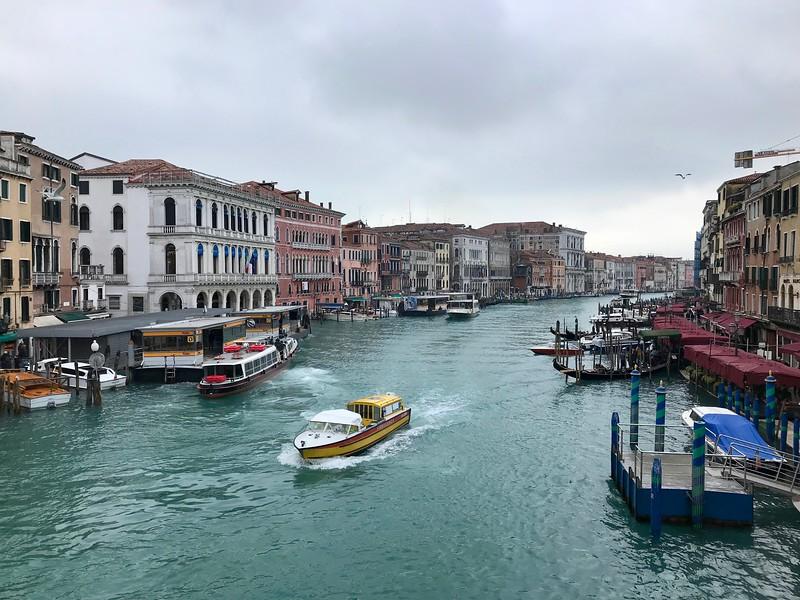 View from Rialto Bridge, Venice.