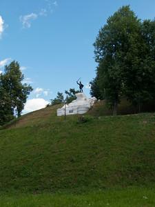 Hillfort. Dorokhov Monument - the hero of the War of 1812.