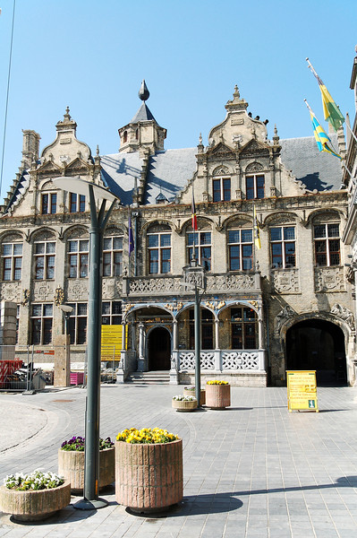 The Town Hall in Veurne, Belgium.