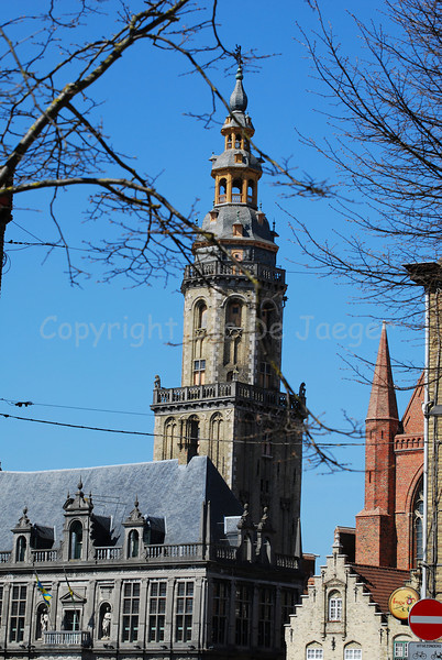 The Belfry tower in Veurne, Belgium.