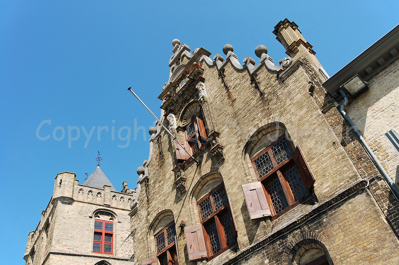 The Old Meat Market (Oude Vleeshalle) in Veurne, Belgium.