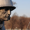 One of the soldiers at the Korean War Monument