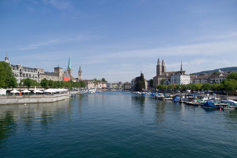 Zurich from Quaibrücke<br /> Olympus E-420 / 12-60mm 2.8-4.0