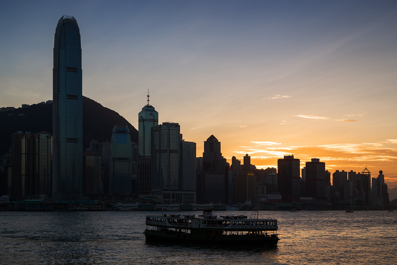 Sunset on Hong Kong Island