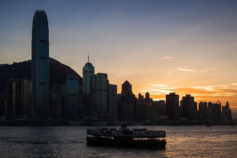 Sunset on Hong Kong Island