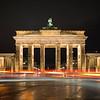 Lit Brandenburg Gate in Berlin at night
