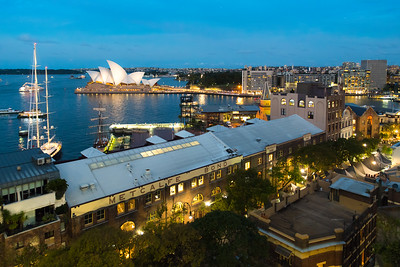 The Rocks, Sydney Harbour with the Opera House, Australia