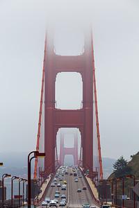Foggy Golden Gate Bridge, San Francisco
