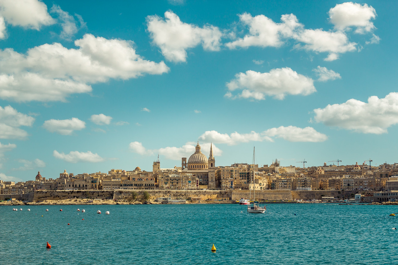 Valletta under the clouds