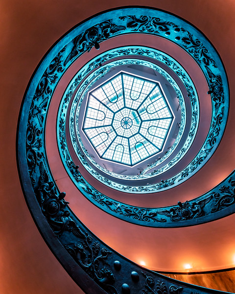 Spiral away...Vatican Museum staircase from another angle