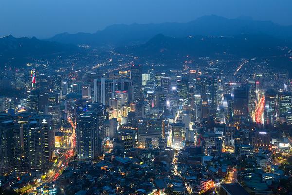 Seoul city nightscape