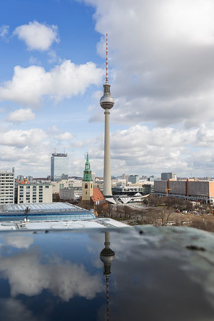 Sunny cityscape of downtown Berlin