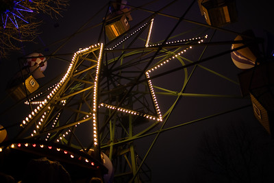 The old Ferris Wheel at Tivoli in Copenhagen