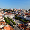 Rossio Square viewed from above in Lisbon