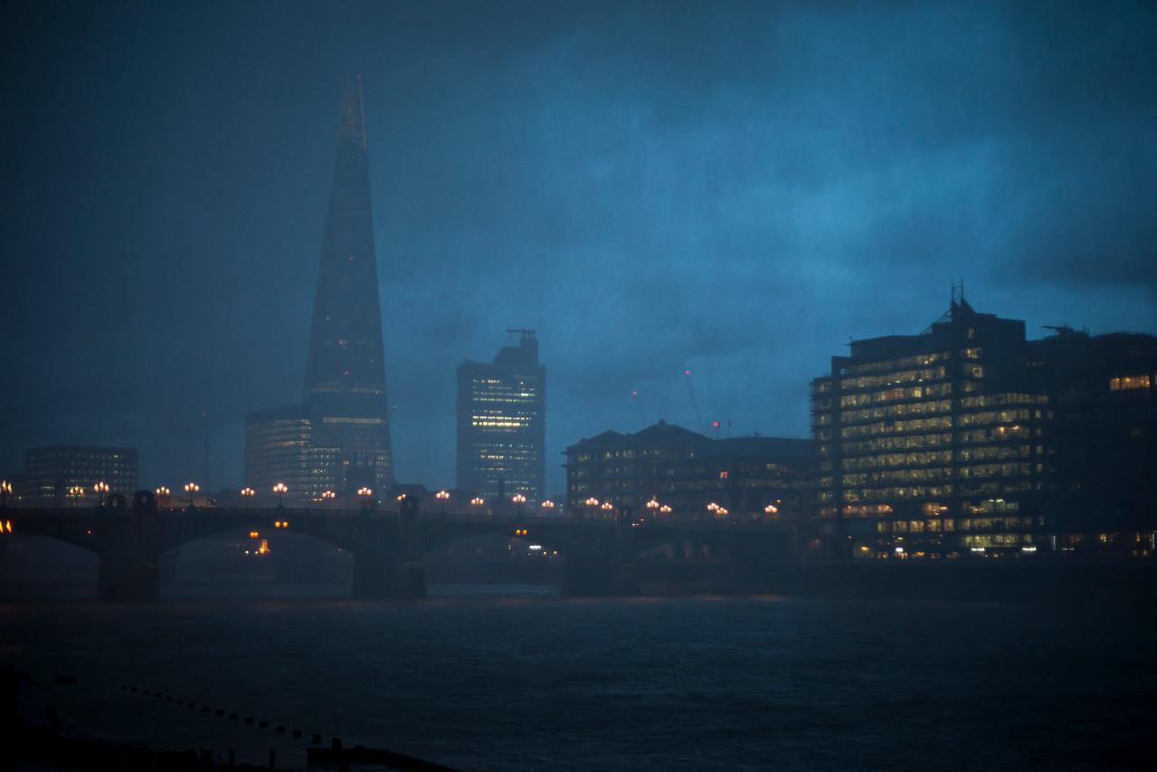 Hailstorm in London