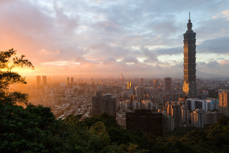 Sunset in Taipei