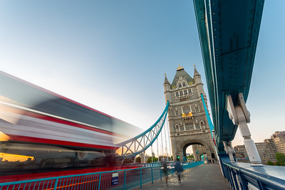 Tower Bridge and Red London Bus