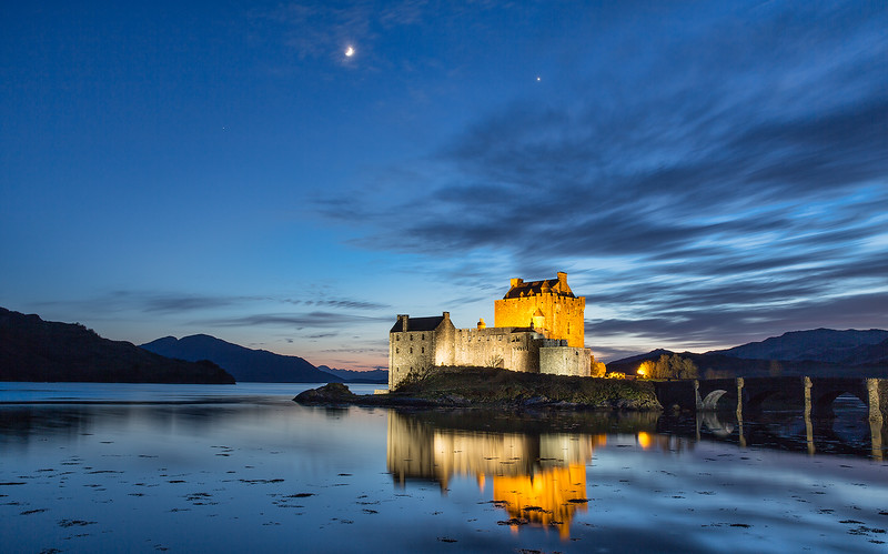 EILEAN DONAN CASTLE - April, 2015, Kyle of Lochlash, Scotland