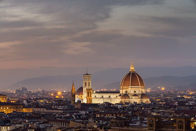 Florence Duomo and Skyline at sunset