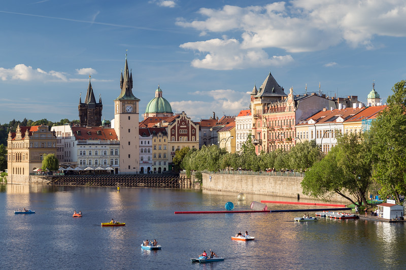 Vltava River and Old Town in Prague