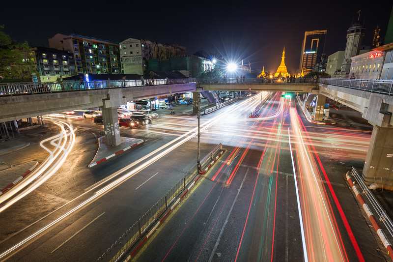 Traffic in Yangon