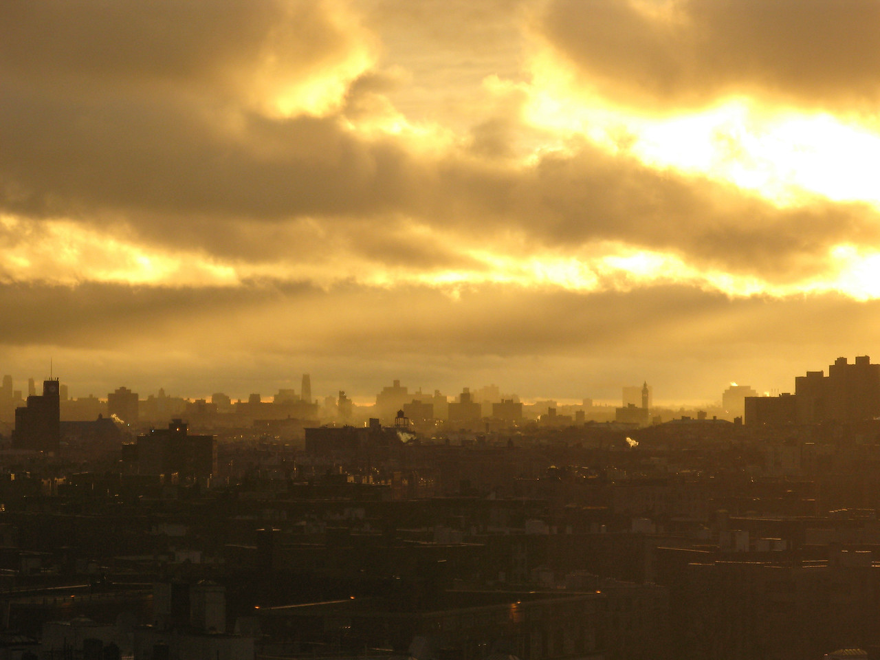 Golden Sunset in the Bronx