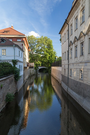 Buildings and canal in Prague