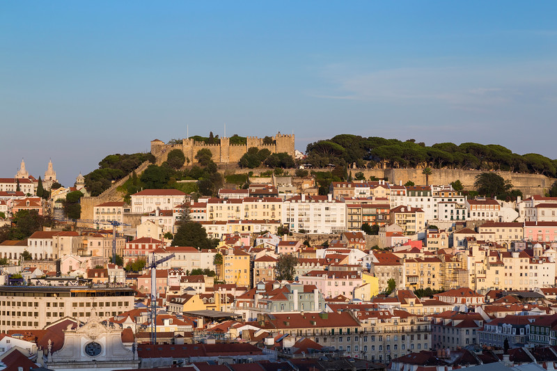 Sao Jorge Castle and city view in Lisbon