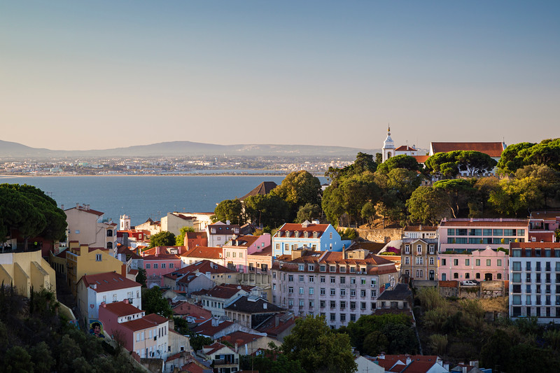 Tagus River and city view in Lisbon