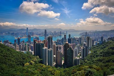 Hong Kong, view from Victoria Peak