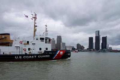 Detroit Skyline and Coast Guard