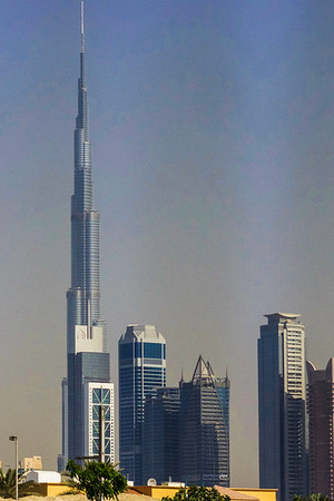 Burj Khalifa.  Tallest building in the world.  Dubai, U.A.E. 2017