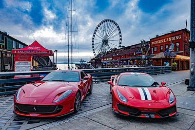 Ferraris at Ferris Wheel