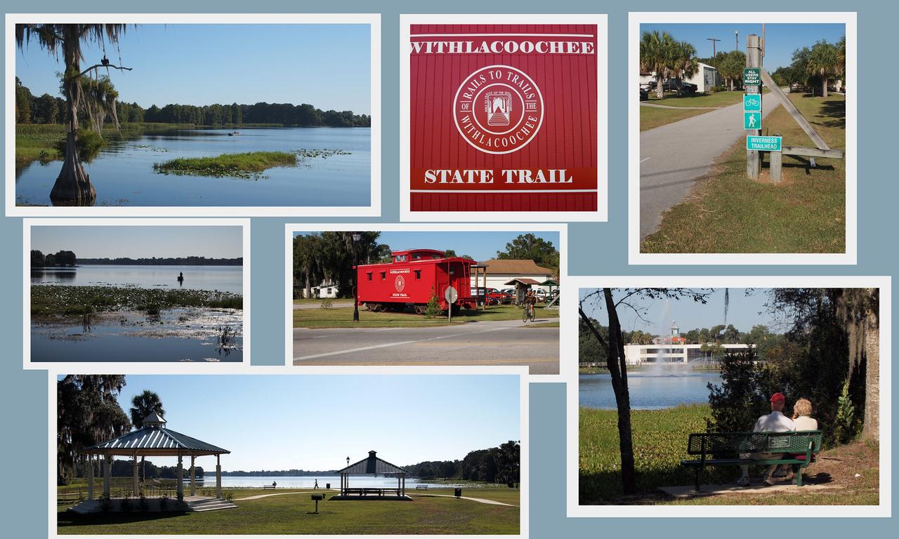 Lake Henderson and Bike Trail. Inverness, Florida.
